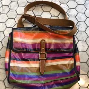 Fossil Messenger Bag / Multi-Color Stripes